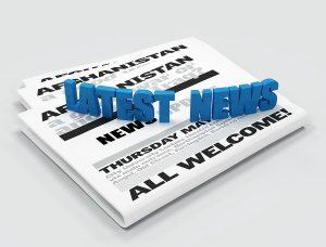 Latest news logo on newspaper - digital artwork